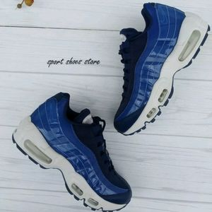 6 WOMEN'S NIKE AIR MAX 95 SE BLUE VOID SNEAKERS